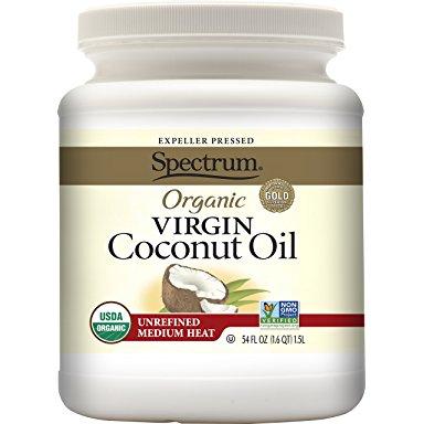 Spectrum Organic Virgin Coconut Oil, Unrefined, 54 Ounce Alexa Only Prime $12.98