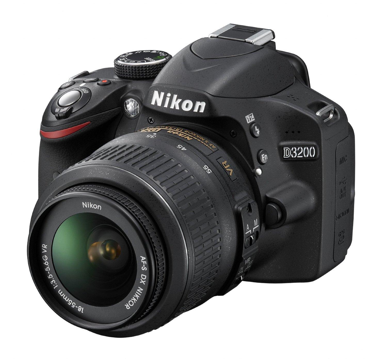 Nikon D3200 24.2MP Digital SLR Camera with 18-55mm VR Lens Black $189 B&M YMMV