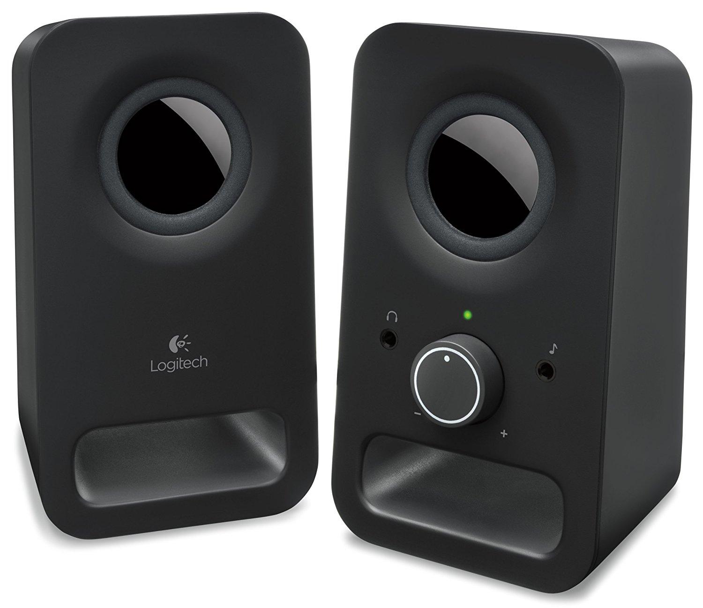 Logitech Z150 Multimedia Speakers, Black for $8.99