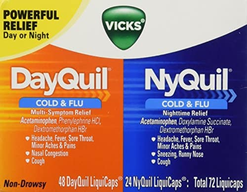 Vicks Dayquil and Nyquil Cough, Cold and Flu Relief Combo, 72 Count - $5