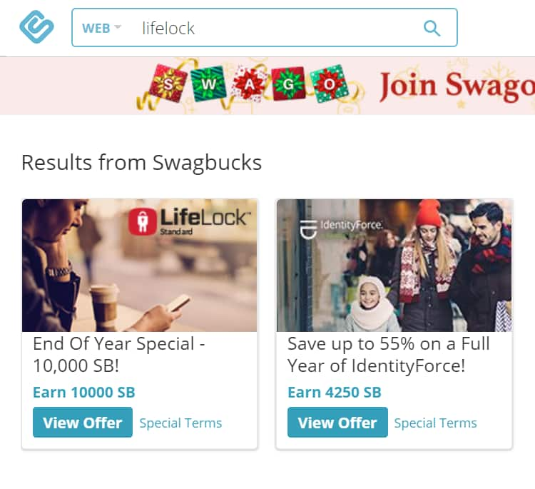 Swagbucks: Sign Up For Lifelock & Get 10,000 Swagbucks ($82 Money Maker) -- Life Lock App Now avialable on both Android and Apple Ios $8.99