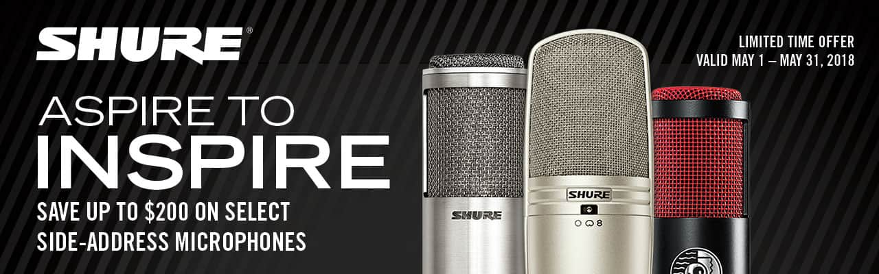 Side-address Shure microphones