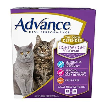 "30# ""Lightweight"" Multi-Cat, Scented Cat Litter $14.56 at Amazon"