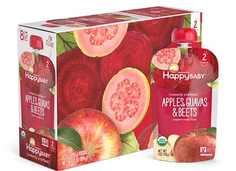 Happy Baby pouches count 16 $8.99 or less Amazon Prime deal