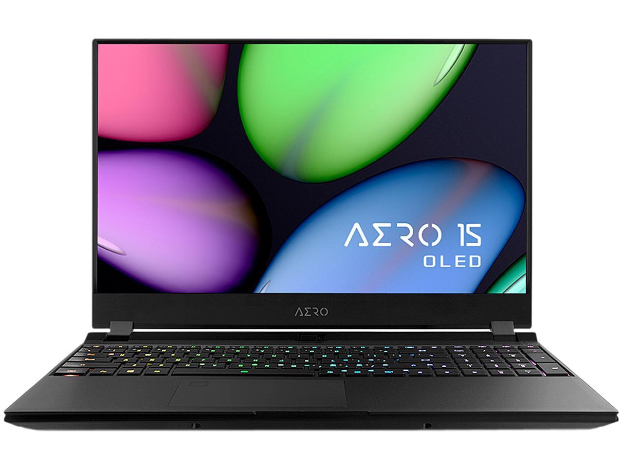 GIGABYTE - AERO 15 OLED SA-7US5020SH Gaming Laptop - 15.6 4K UHD AMOLED - Intel Core i7-9750H - NVIDIA GeForce GTX 1660 Ti - 8 GB Memory 256 GB SSD $1329