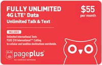 Verizon Network - Fully Unlimited 4G Data, Talk, and Text Prepaid Plan - $50 monthly w/ autopay - Pageplus MVNO