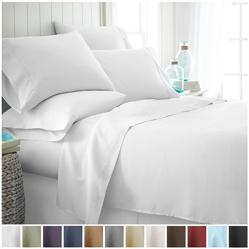 6 Piece Ienjoy Home Bed Sheet Set King 20 Queen