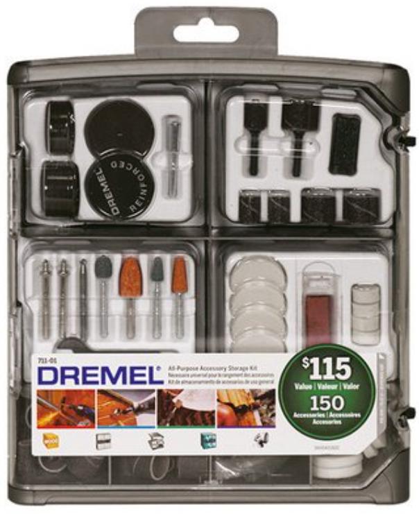 YMMV Dremel 711-01 150 Piece All-purpose Rotary Accessory Accessory Kit $6.86