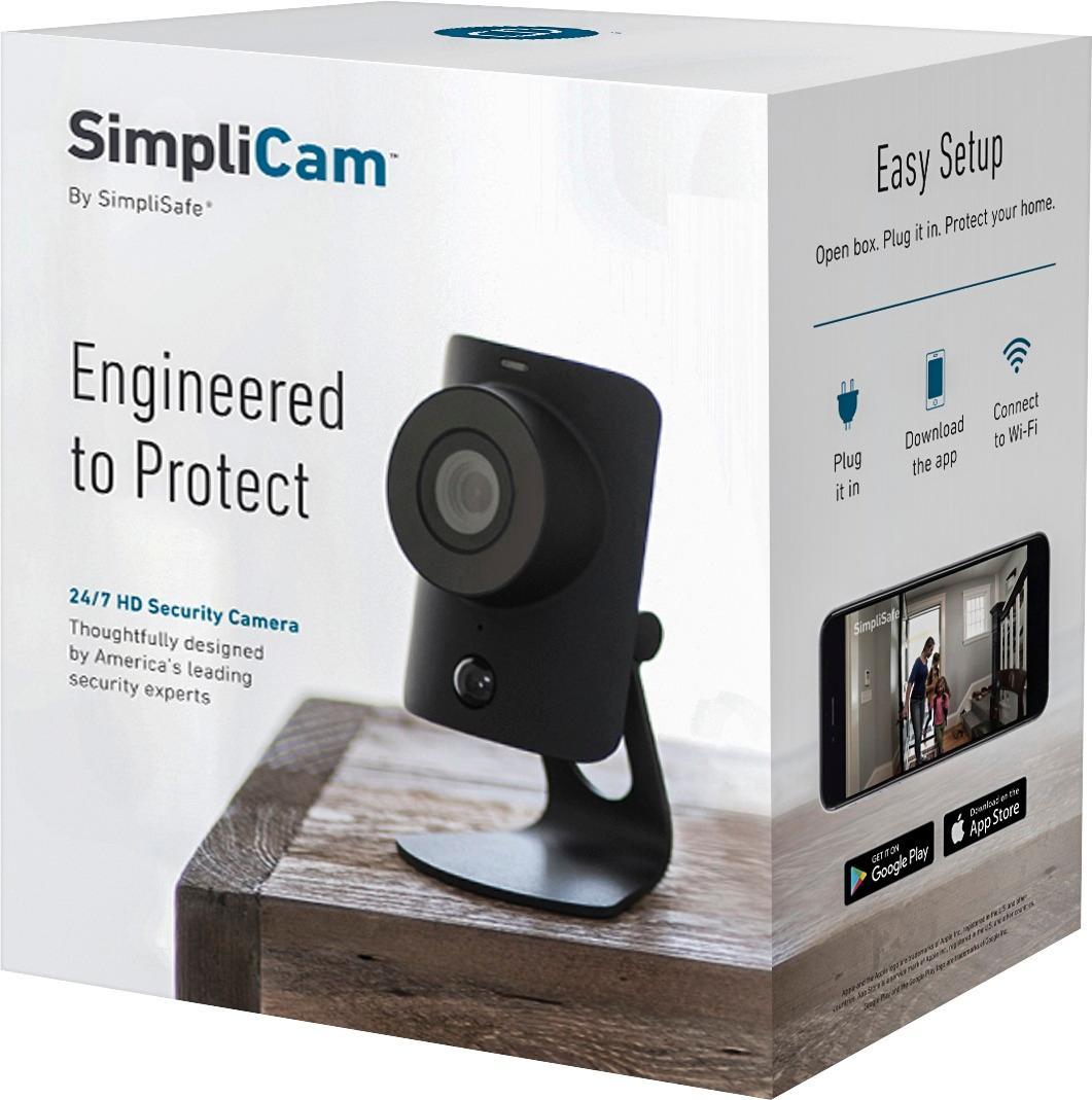 $49.99 - SimpliSafe SimpliCam Indoor HD Wi-Fi Security Camera SS2-CAM - Best Buy