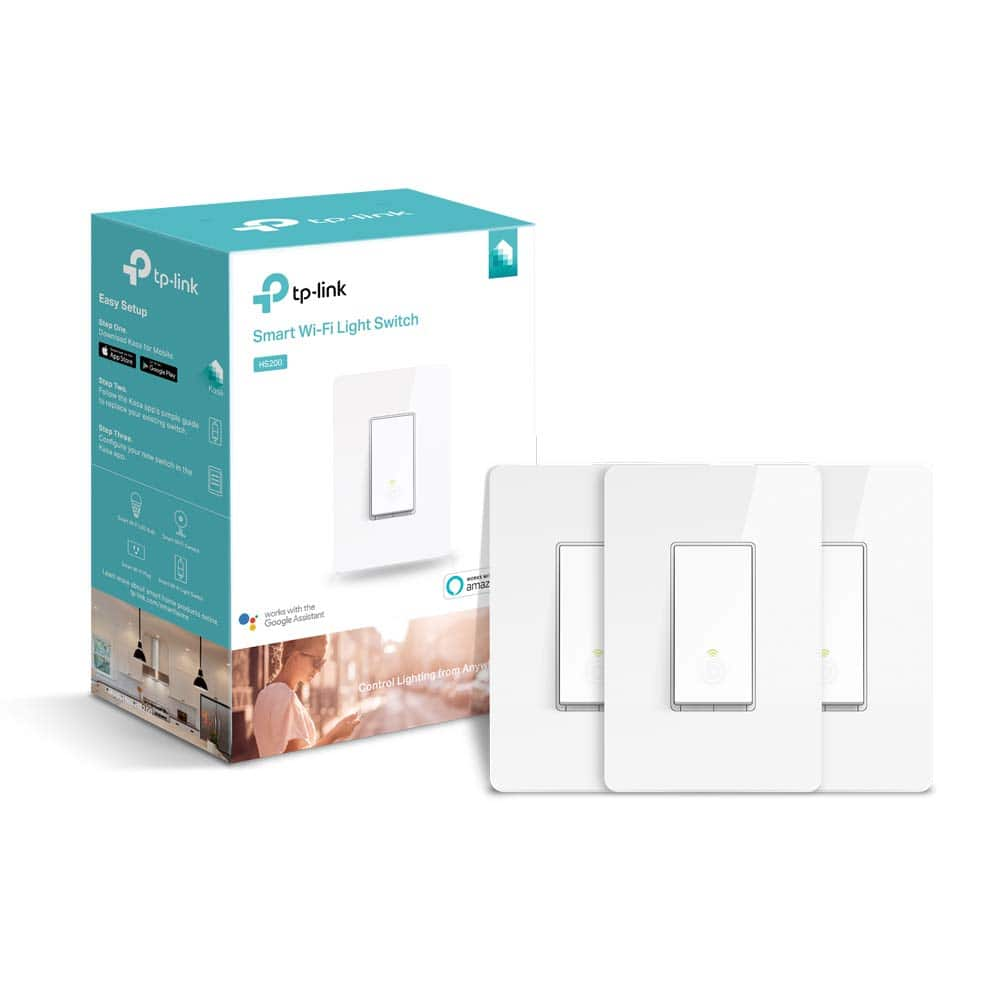 Kasa 3 Way Smart Switch 2 pack $39.99, Kasa Smart Light Switch 3 pack $44.99, plus 15% back if you have Prime CC