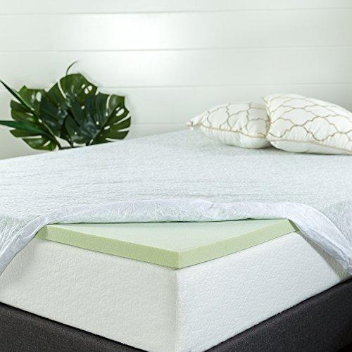 zinus 1 5 inch green tea memory foam mattress topper various size. Black Bedroom Furniture Sets. Home Design Ideas
