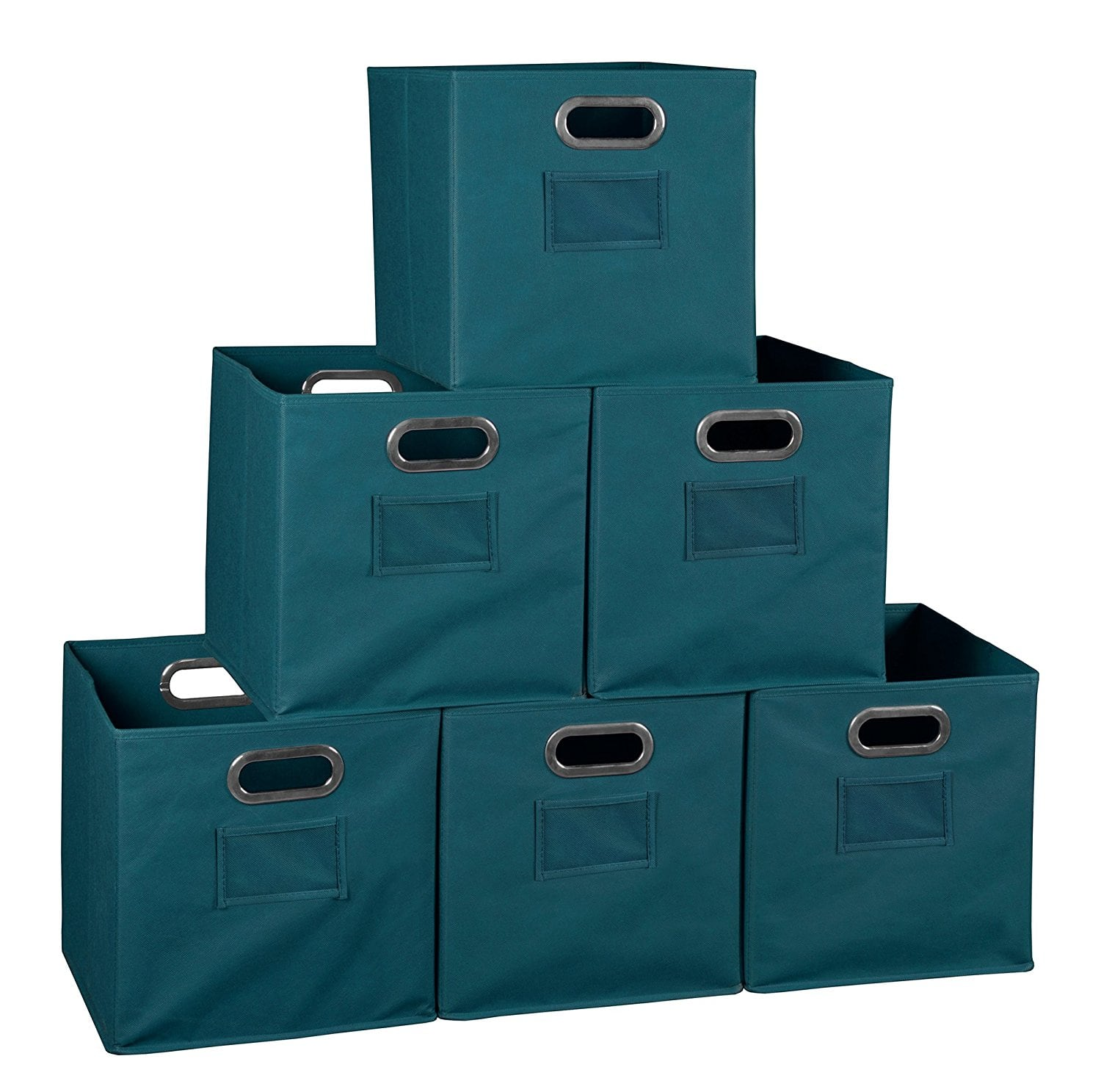 """Niche Cubo 12"""" Foldable Fabric Storage Bins 6 pc (Teal) for 13.96 $13.96"""