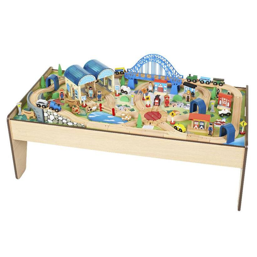 Imaginarium All-in-One Wooden Train Table $47.59