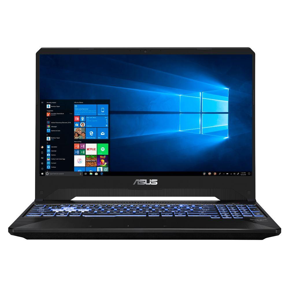 "ASUS TUF FX505DU-MB53 15.6"" Gaming Laptop Computer - Black AMD Ryzen 5-3550H Processor 2.1GHz; NVIDIA GeForce GTX 1660Ti 6GB GDDR6; 8GB DDR4-2666 RAM; 512GB Solid State Drive"