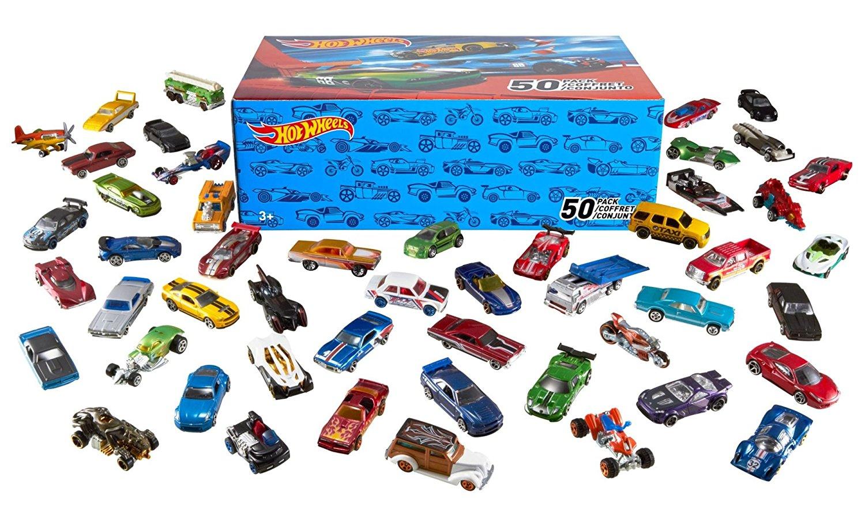 hot wheels 50 pack $31.99