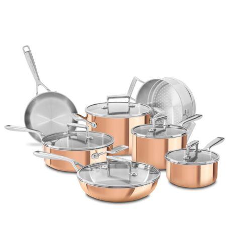 KitchenAid® Tri-Ply Copper 12-Piece Set, Satin Copper, KC2PS12CP at eBay for $199.99