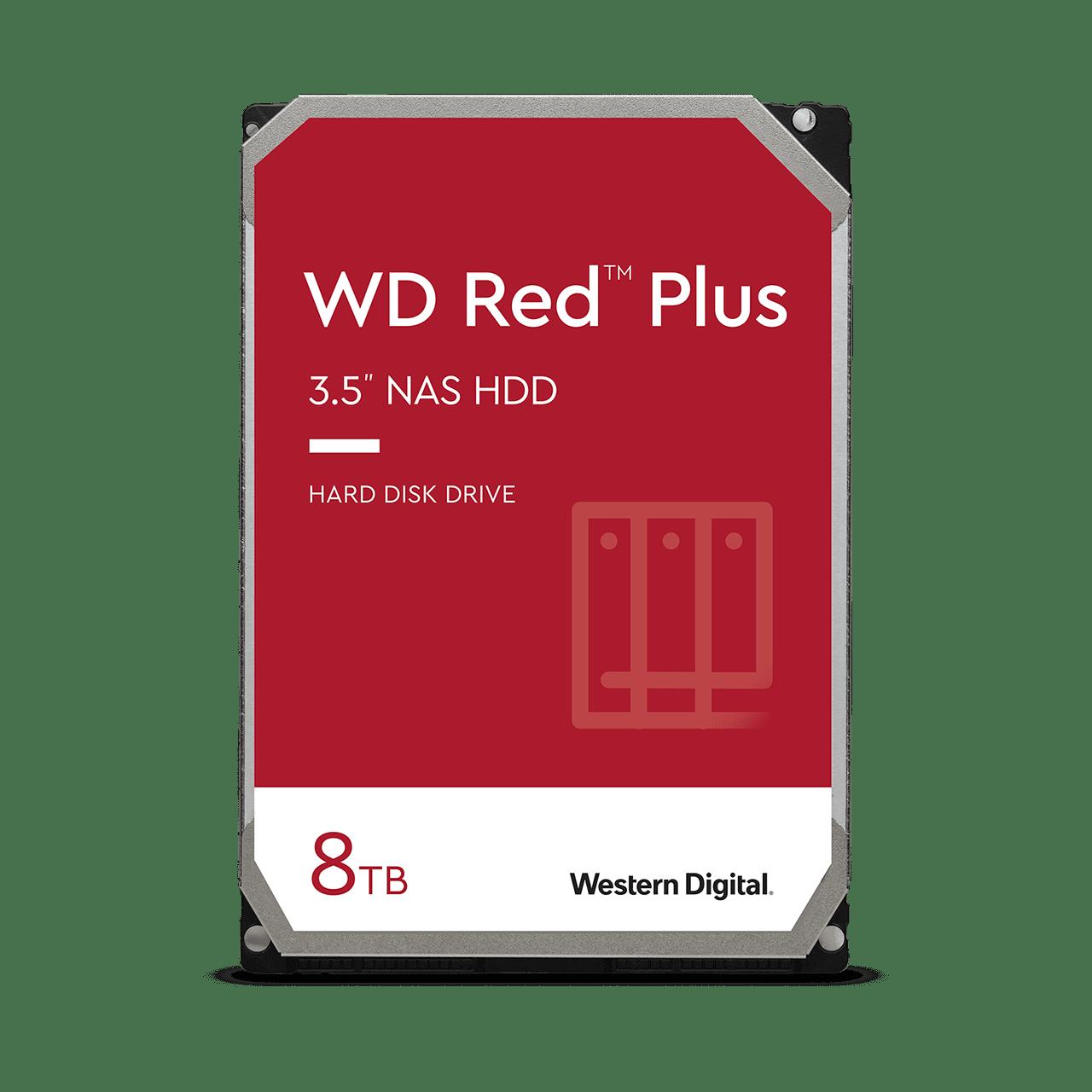 Western Digital Red Plus NAS HD (CMR) - 4TB - $90, 6TB - $130, 8TB - $150, 10TB - $189