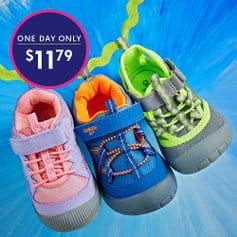 OshKosh Sneakers & Closed-Toe Sandals Only $11.79 (Regularly up to $38) on Zulily
