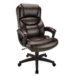 Realspace® Fennington Bonded Leather High-Back Executive Chair, Brown or Black at Office Depot - $109.99 + Free shipping or store pick-up