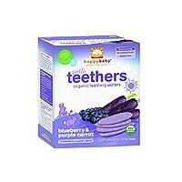 Amazon Deal: Happy Baby Gentle Teethers Organic Teething Wafers, Blueberry and Purple Carrot, 1.7 Ounce (Pack of 6) amazon $4.29 + $2.09 shipping $