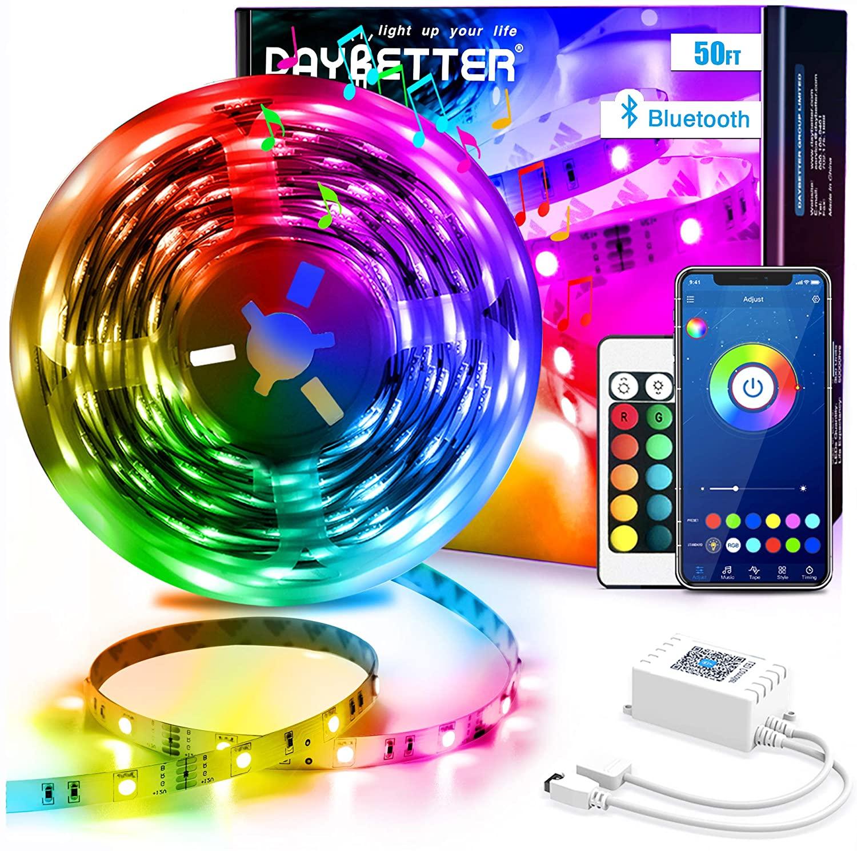 Led Strip Lights 50ft Smart Light Strips with App Control Remote $14.99