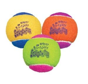 KONG Air Dog Squeakair Birthday Balls Dog Toy (3 Balls) $2.39 Amazon Prime (not an add-on item)