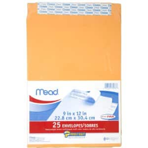 20 to 30 Count - Mead Press-It Seal-It Envelopes from $1.99 Amazon Prime - not an add-on item