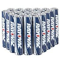 Best Buy Deal: Rayovac 48 pack AA or AAA batteries, $10.99 @ Best Buy today only