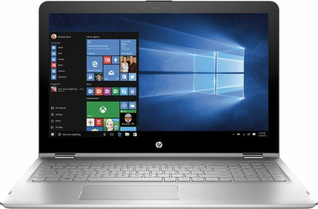 "HP - ENVY x360 2-in-1 15.6"" Touch-Screen Laptop - Intel Core i5 - 12GB Memory - 1TB Hard Drive - Silver  $599 Plus Free Shipping"