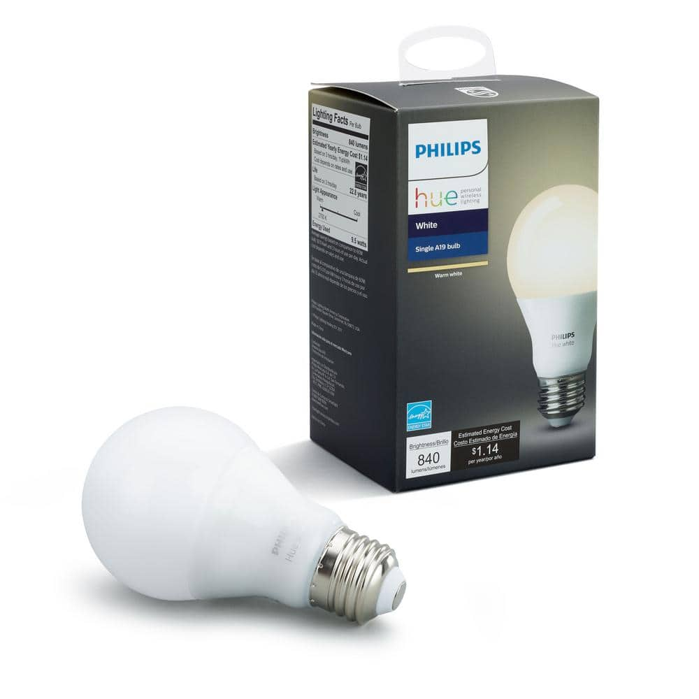 Philips Hue White A19 60W LED Equivalent Dimmable Smart Bulb from home depot YMMV $9.97