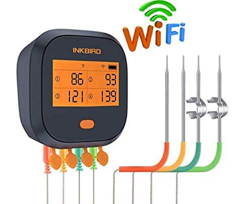 Inkbird WIFI Meat BBQ Thermometer IBBQ-4T with 4 Probes - $50.00 AC