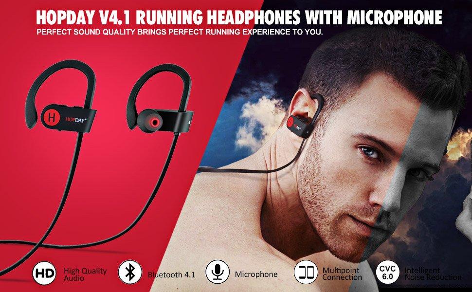 Bluetooth Headphones, Wireless Headphones, HOPDAY U8 In-Ear Bluetooth Earbuds $14.99
