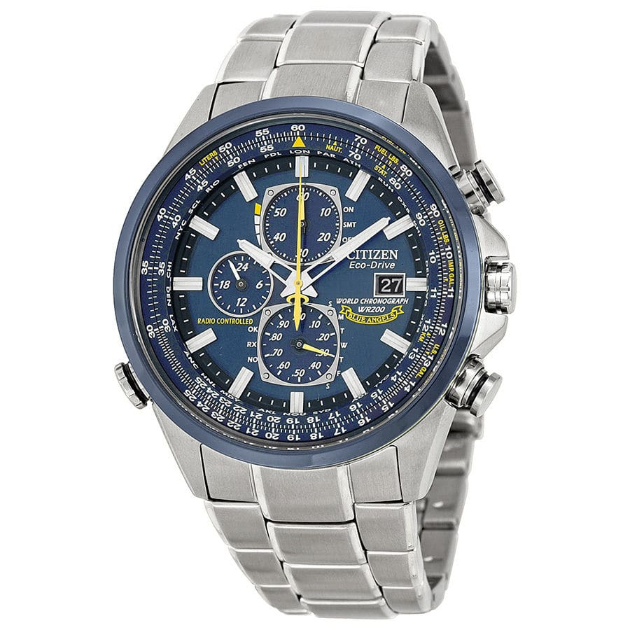 Citizen-Men-039-s-AT8020-54L-034-Blue-Angels-034-Stainless-Steel-Eco-Drive $288.99