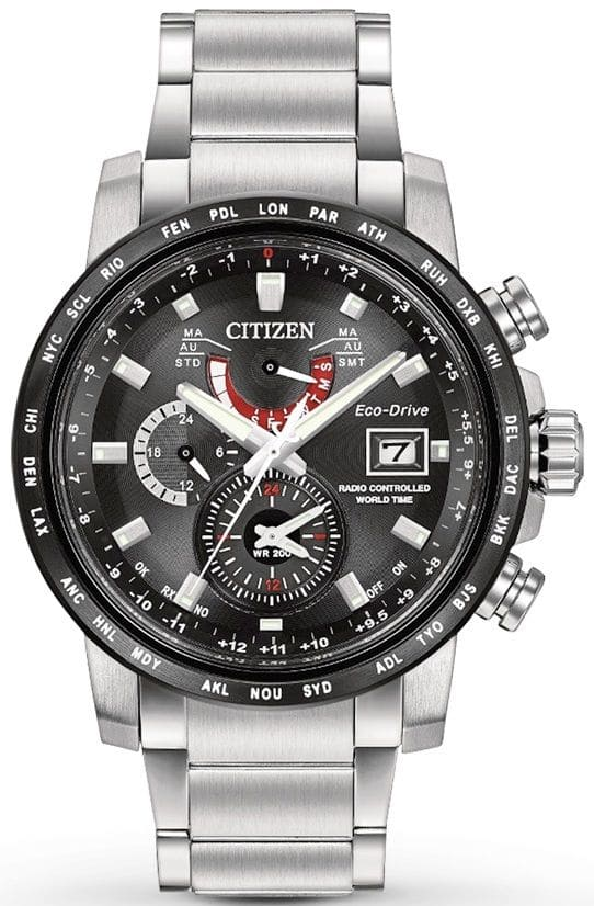 Citizen Eco-Drive World Time A-T Mens Watch AT9071-58E $269.99
