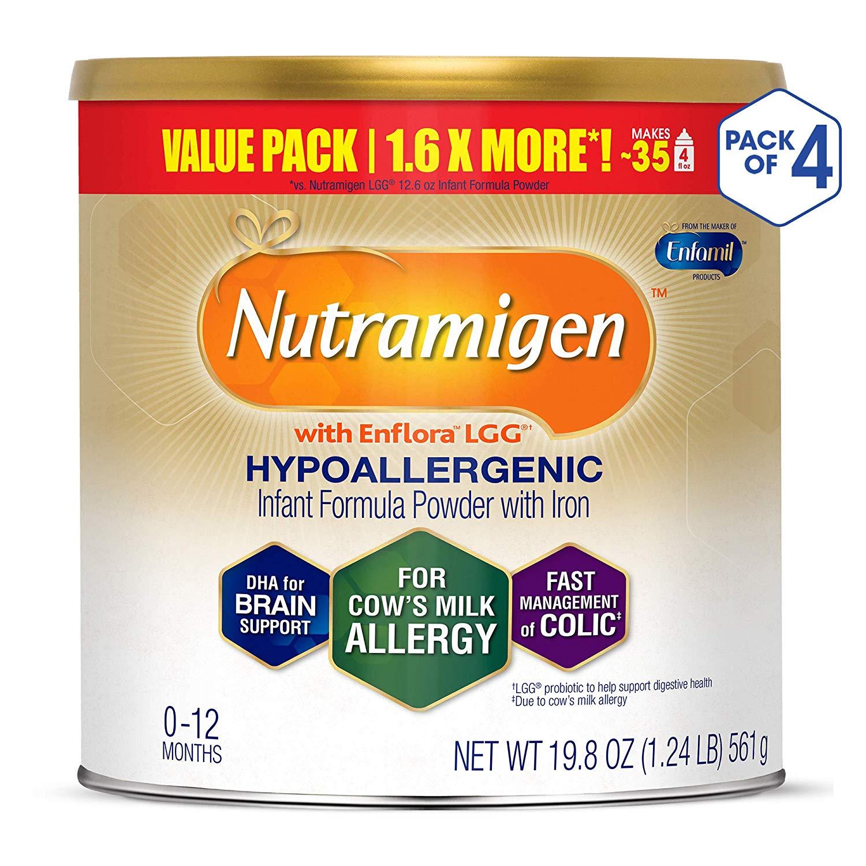 Enfamil Nutramigen Infant Formula - 19.8 oz (Pack of 4) - $113.70 (w/ Coupon + S&S)