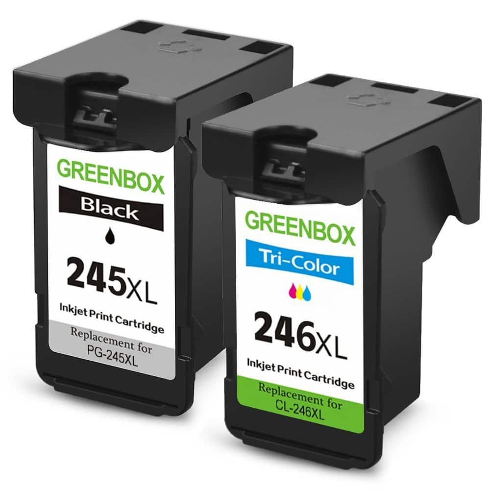 Remanufactured Ink Cartridge Replacement For Canon PG-245XL CL-246XL (1 Black+1 Tri-Color)$26.85