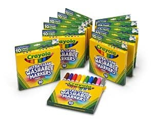 Crayola Broad Ultra Clean Markers (120-Count) 50% off & Free Shipping at Amazon