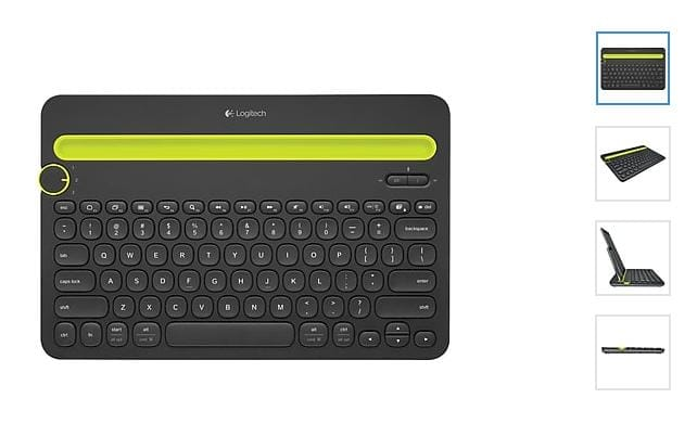 Logitech K480 Wireless Bluetooth Compact Multi-Device Keyboard for Computers, Tablets and Smartphones, Black for $19.99