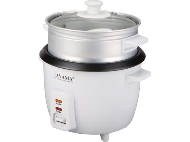 Tayama RC-3 6 cups cooked capacity rice cooker with steam tray $2.49