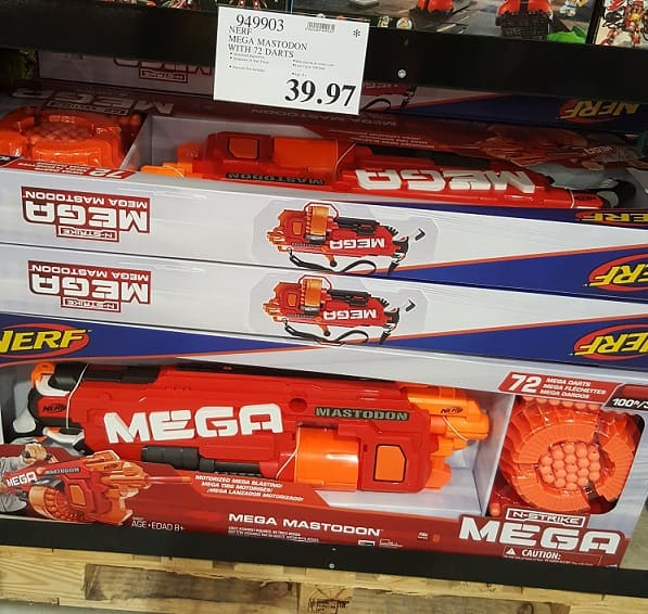 Nerf Mega Mastodon with 72 darts - $39.97 at Costco B&M