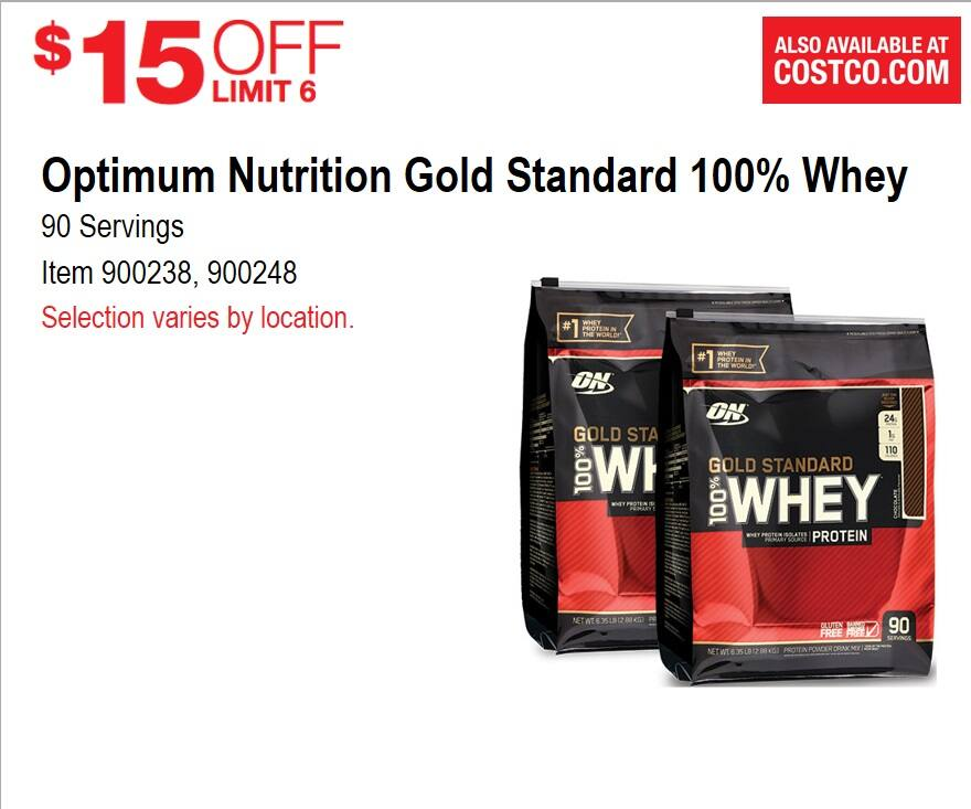 $45 6.4 lb (Better than recent front page price) Optimum Nutrition whey protein
