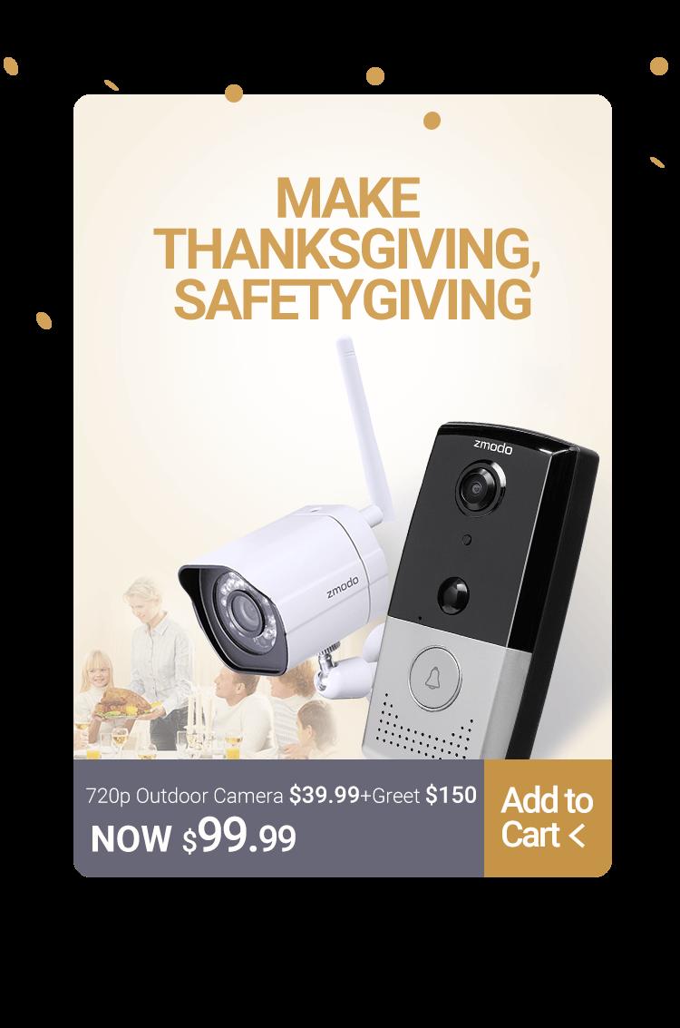 ZMODO DoorBell Camera + Outdoor Camera (720p) for $99