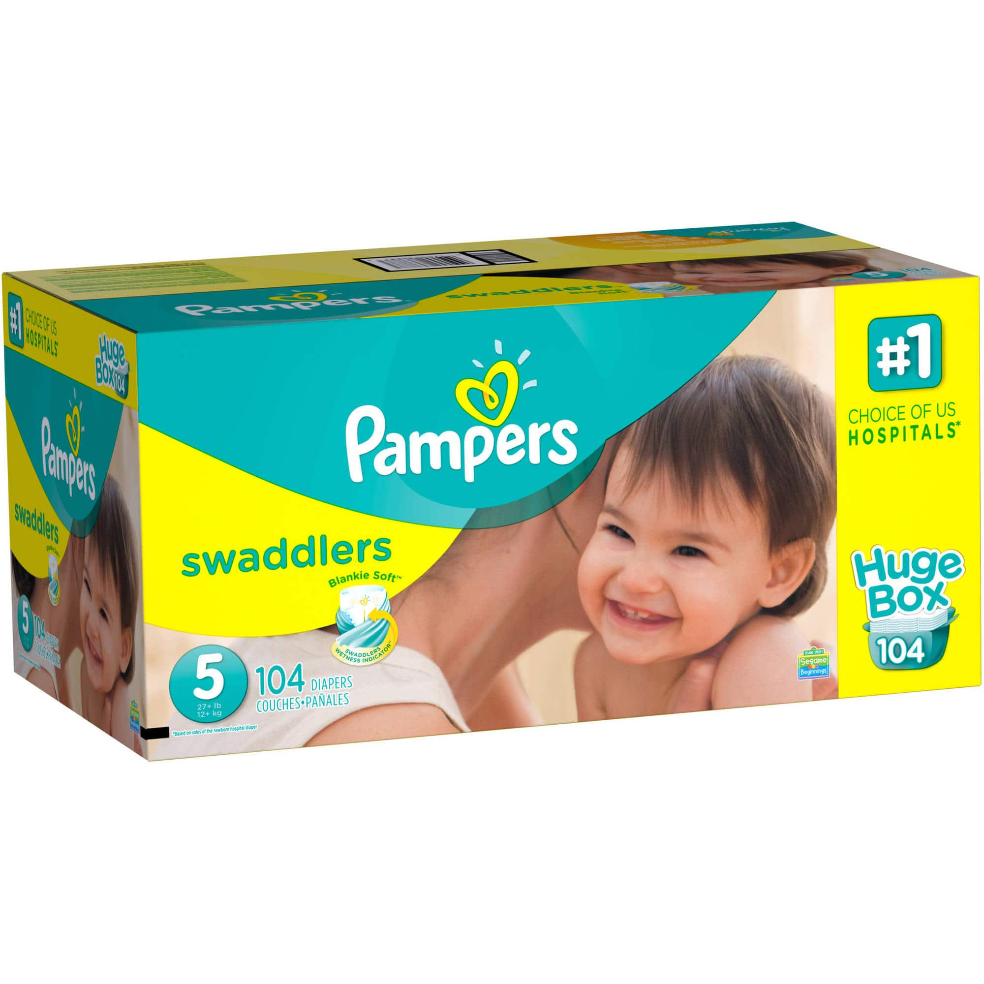 Pampers swaddlers size 5 (152 count for $31.98 @ Walmart.com)