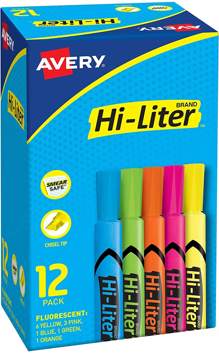 Avery Hi-Liter 12 Pack Assorted Colors $2.93 or 24 Pack for $5.03 Amazon Free Prime Ship or on $25+