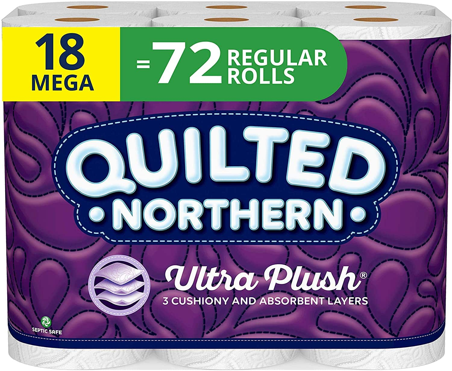 AMAZON -Quilted Northern Bathroom Tissue, Pack of 18, White 18 Count $17.48