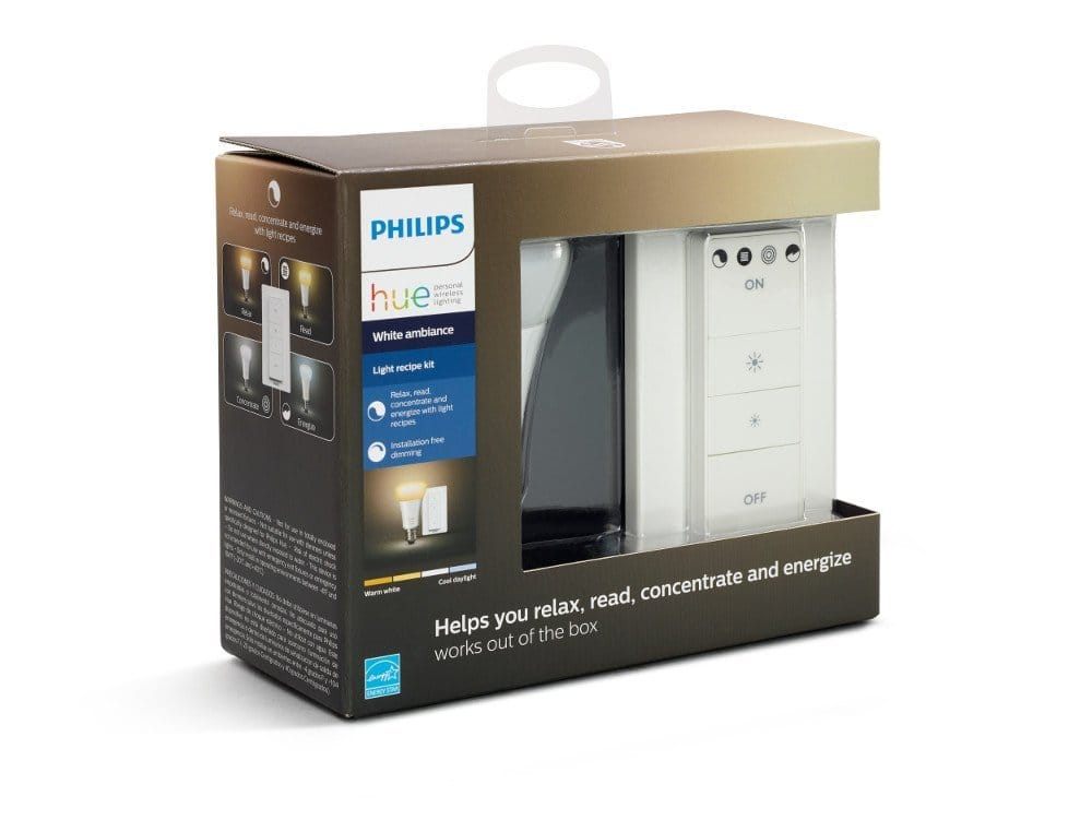 Philips Hue Smart Dimmable LED Smart Light Recipe Kit   @   Amazon -   $39.99;   Regular $49.99