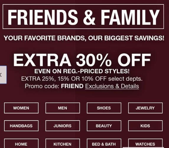 Macy s Friends and Family sale including some cosmetics - Slickdeals.net 0a99c42c5feda