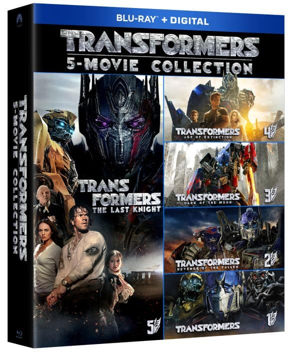Transformers 5-Movie Collection Blu-ray @ Best Buy for $12.99