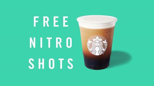 Starbucks Free Nitro Cold Brew Shot August 2nd