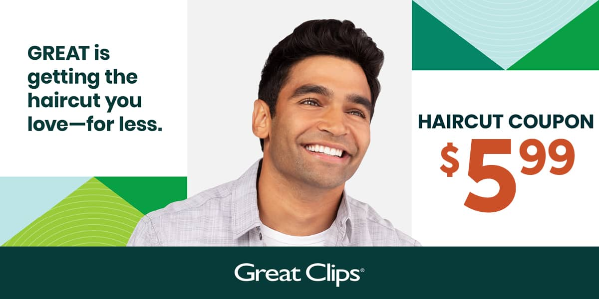 Great Clips Hair Cut $5.99 NJ, PA, DE